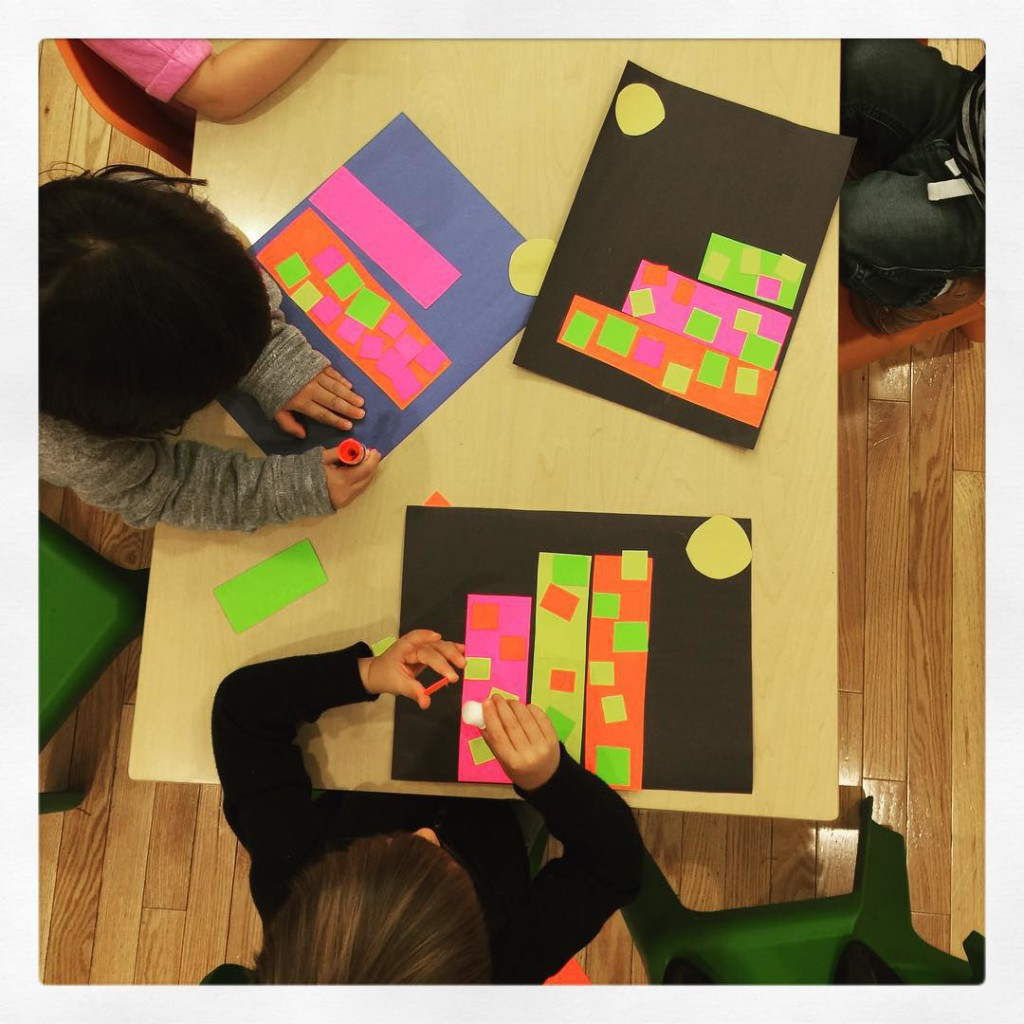The Explorers build shape cities! preschool kidsart tribeca nyckids ece