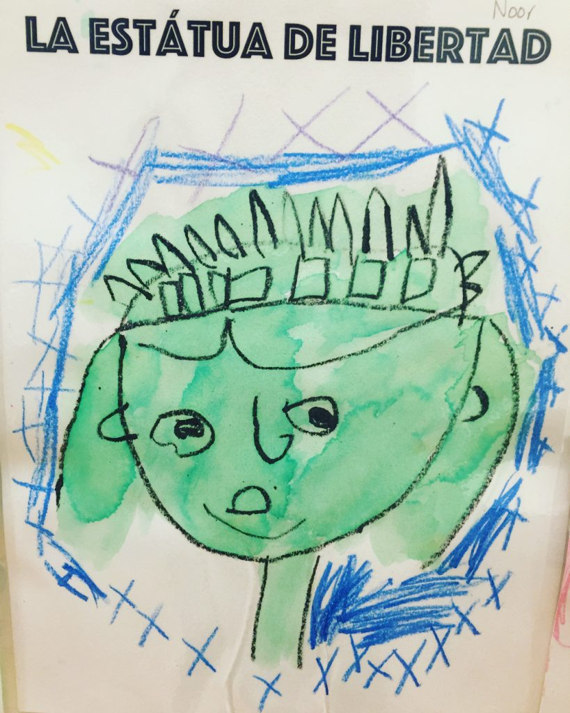 Spanish Discoverers draw portraits of the Statue of Liberty! hellip