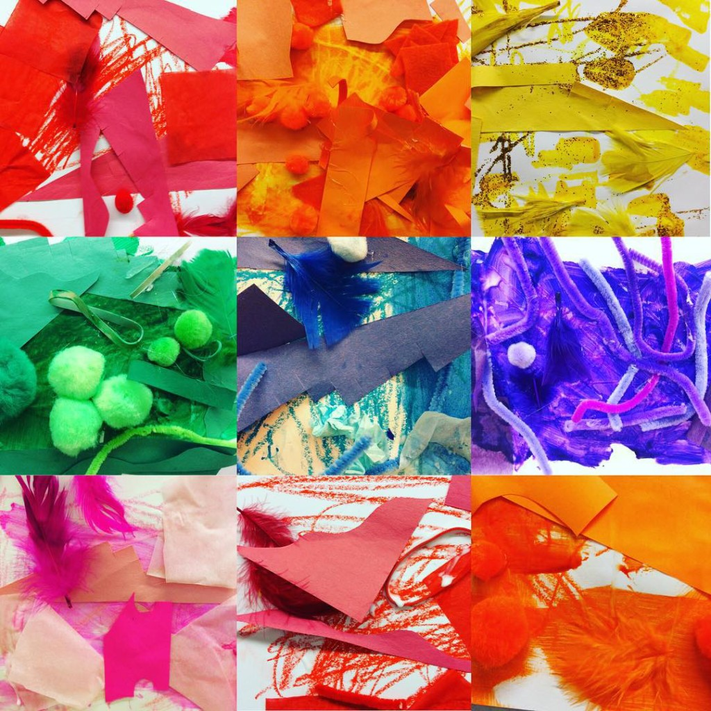 The Discoverers experimented with mixedmedia art to create monochromatic masterpieces!hellip